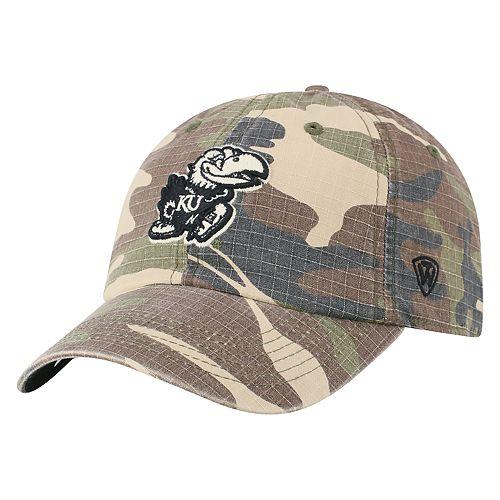 Adult Top of the World Kansas Jayhawks Hero Adjustable Cap