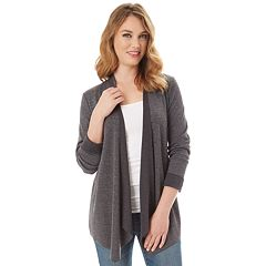 Women's Apt. 9® French Terry Flyaway Cardigan