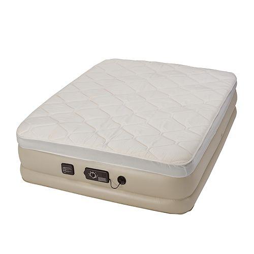 Serta® Raised 18-in Queen Pillow Air Mattress & Internal ...