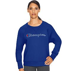 Women's Champion Applique Fleece Crewneck Sweatshirt