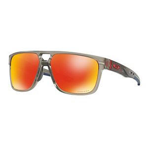 Oakley Crossrange Patch OO9382 60mm Rectangle Prizm Ruby Mirrored Sunglasses