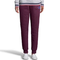 Women's Champion Applique Fleece Mid-Rise Jogger Sweatpants