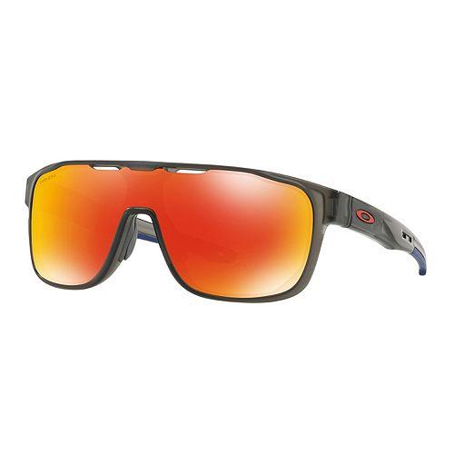 Oakley Crossrange OO9387 31mm Shield Prizm Ruby Mirrored Sunglasses