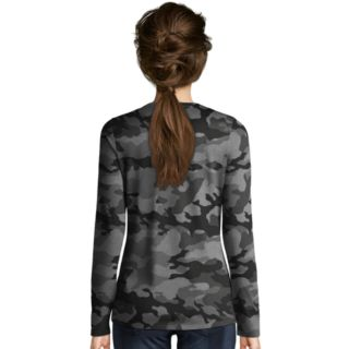Women's Champion Authentic Wash Camo Long Sleeve Tee