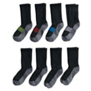 Boys Hanes Ultimate 8-pack Crew Socks