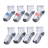 Boys Hanes Ultimate 8-pack Quarter Socks