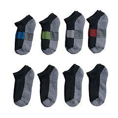 Boys 4-20 Hanes Low-Cut 8-Pack Socks