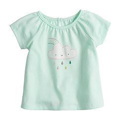 Baby Girl Jumping Beans® Cloud & Rainbow Applique Tee