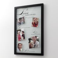 """Malden® """"Live Dance Love Sing"""" Glass 5-Opening Collage Frame"""