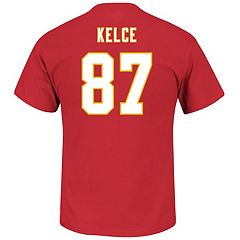 Men's Majestic Kansas City Chiefs Travis Kelce Name & Number Tee