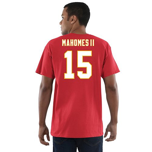 1db7cc041 Men s Majestic Kansas City Chiefs Patrick Mahomes Name   Number Tee