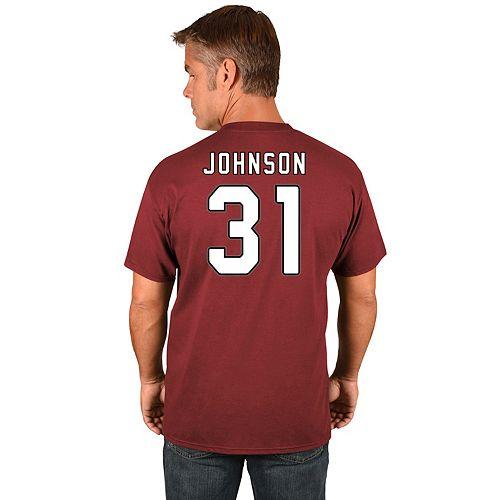 Men's Majestic Arizona Cardinals David Johnson Name & Number Tee