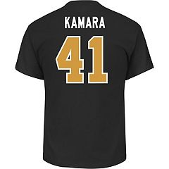 Men's Majestic New Orleans Saints Alvin Kamara Name & Number Tee