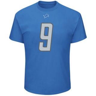 Men's Majestic Detroit Lions Matthew Stafford Name & Number Tee