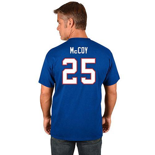 Men's Majestic Buffalo Bills LeSean McCoy Name & Number Tee