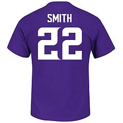 Men's Majestic Minnesota Vikings Harrison Smith Name & Number Tee