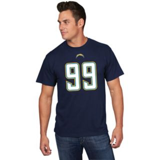 Men's Majestic Los Angeles Chargers Joey Bosa Name & Number Tee