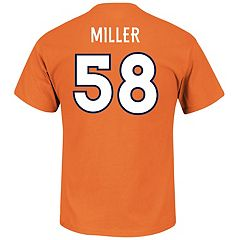 Men's Majestic Denver Broncos Von Miller Name & Number Tee