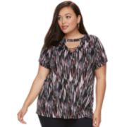 Plus Size Jennifer Bar Front Tee