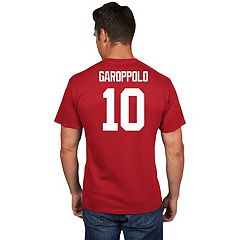 Men's Majestic San Francisco 49ers Jimmy Garoppolo Name & Number Tee