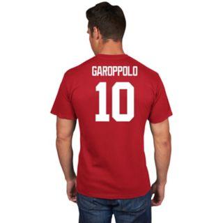 Men's Majestic San Francisco 49ers Jimmy Garoppolo Name & Number Tee