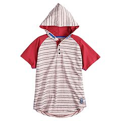 Boys 8-20 Jaquard Hooded Tee