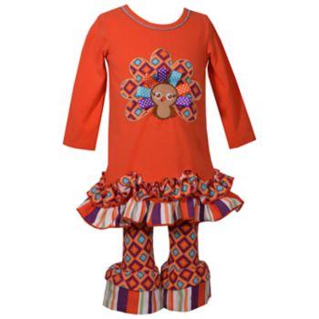 Girls 4-6x Bonnei Jean 2-Piece Turkey Dress Set