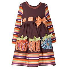 Girls 4-6x Bonnie Jean Pumpkin Dress