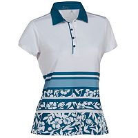 Women's Nancy Lopez Pretty Short Sleeve Golf Polo