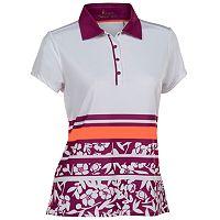 Women's Nancy Lopez Pretty Short Sleeve Golf Polo