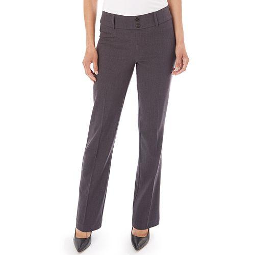 Women's Apt. 9® Magic Waist Tummy Control Pull-On Bootcut Dress Pants