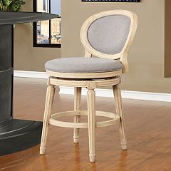 Linon Cocoa Swivel Bar Stool