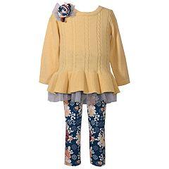 Girls 4-6x Bonnie Jean 2-Piece Sweater & Leggings Set
