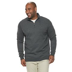 Big & Tall Croft & Barrow® Classic-Fit Easy-Care Quarter-Zip Pullover