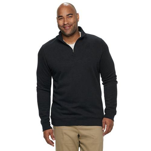 Big & Tall Croft & Barrow® Classic-Fit Easy-Care Quarter-Zip Pullover