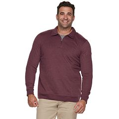 Big & Tall Croft & Barrow® Classic-Fit Extra-Soft Quarter-Zip Pullover