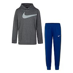 Boys 4-7 Nike Dri-FIT Logo Pullover Hoodie & Jogger Pants Set