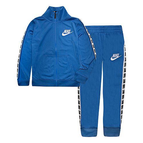 Boys 4-7 Nike Block Taping Mock Layer Zip Jacket & Jogger Pants Set