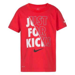 "Boys 4-7 Nike ""Just For Kicks"" Logo Graphic Tee"