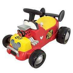 Disney's Mickey & The Roadster Racers Mickey Mouse Formula Racer Sound Activity Ride-On Vehicle by Kiddieland