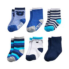 Baby / Toddler Boy Stride Rite 6-pack Little Bear Crew Socks