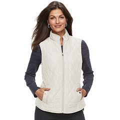 Petite Croft & Barrow® Classic Quilted Vest