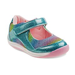 Laura Ashley Lifestyles Glittery Toddler Girls' Mary Jane Shoes