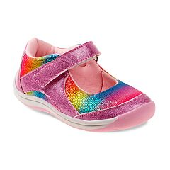 Laura Ashley Glittery Toddler Girls' Mary Jane Shoes