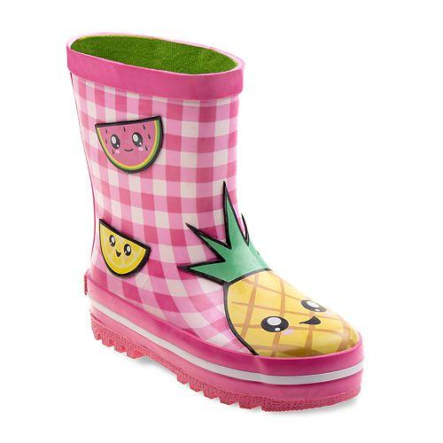 Laura Ashley Fruit Girls' Waterproof Rain Boots