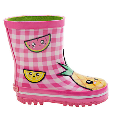 Laura Ashley Fruit Girls' Waterproof Rain Boots