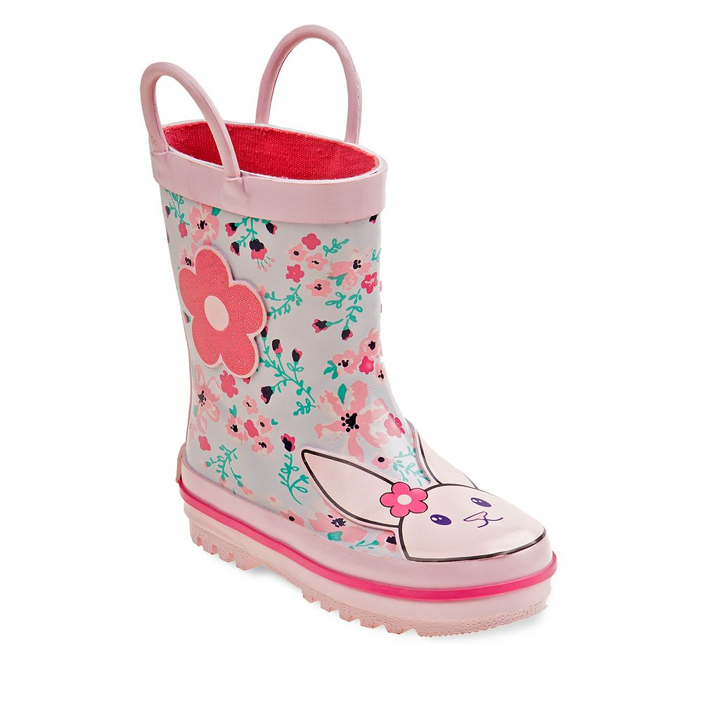 Laura Ashley Lifestyles Bunny Toddler Girls' Waterproof Rain Boots