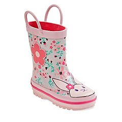 Laura Ashley Bunny Toddler Girls' Waterproof Rain Boots