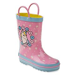 Laura Ashley Unicorn Toddler Girls' Waterproof Rain Boots