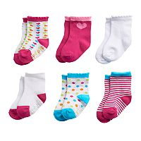 Baby / Toddler Girl Stride Rite 6-pack Color Pop Scalloped Crew Socks